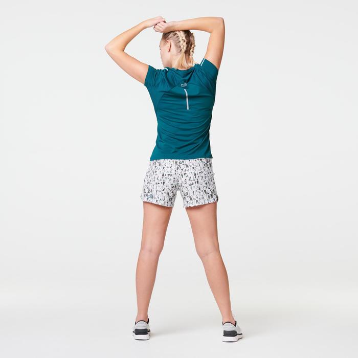 Hardloop T-shirt voor dames Run Dry+ turquoise