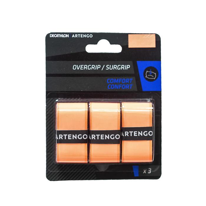 Overgrip voor tennis Comfort oranje set van 3