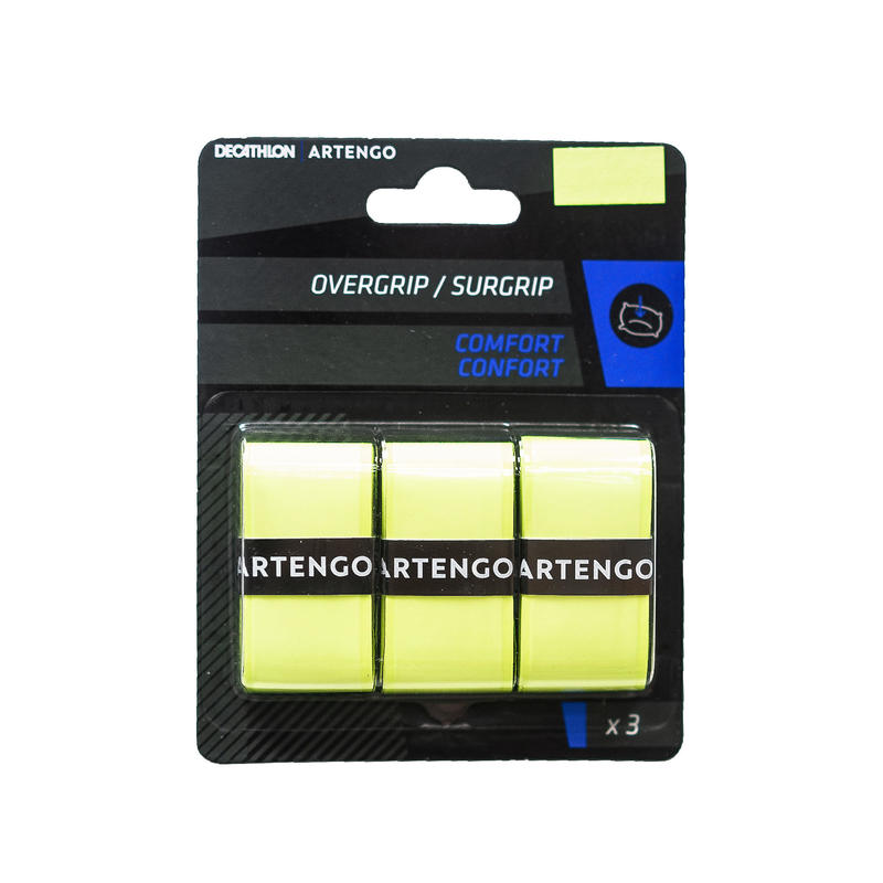 Tennis Comfort Overgrip Tri-Pack - Yellow