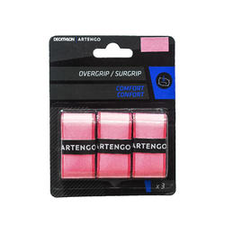Overgrip voor tennis Comfort roze set van 3