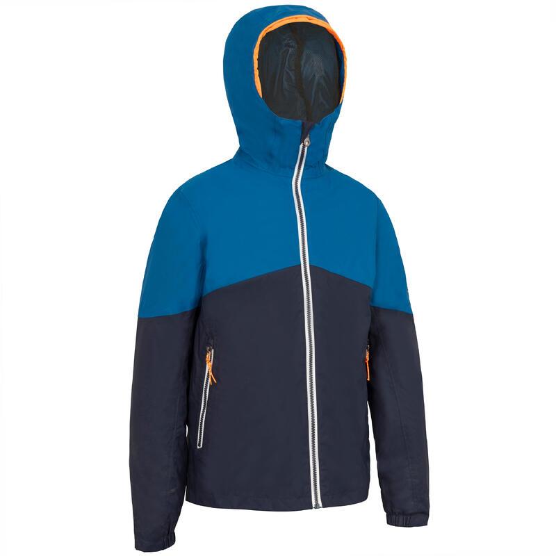 Kid's Waterproof Sailing Jacket 100 - Navy blue