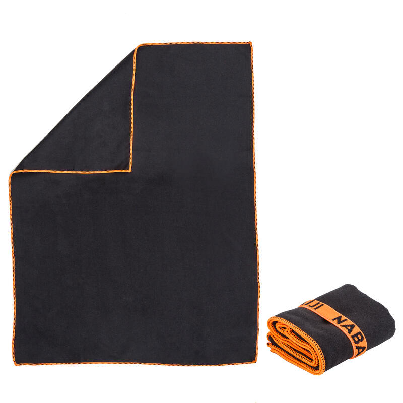 Swimming Microfibre Towel Size S 42 x 55 cm - Dark Grey