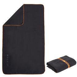 輕便微纖維毛巾L號80 x 130 cm-灰色