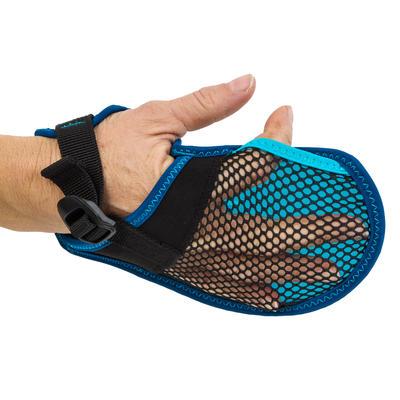 Swimming Gloves Soft 100 - Black Blue