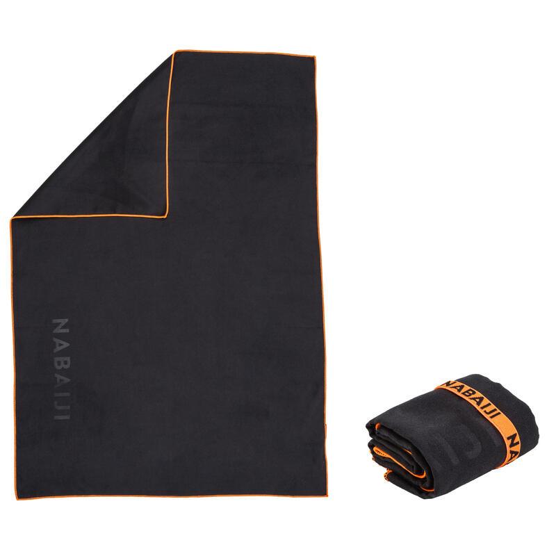 Microvezel handdoek donkergrijs maat M 65 x 90 cm
