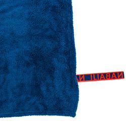 Serviette microfibre bleu ultra douce taille L 80 x 130 cm