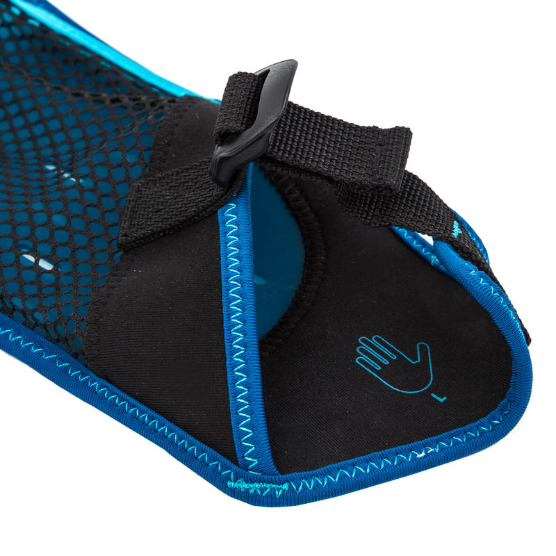 Swimming Gloves Soft 100 - Black Blue