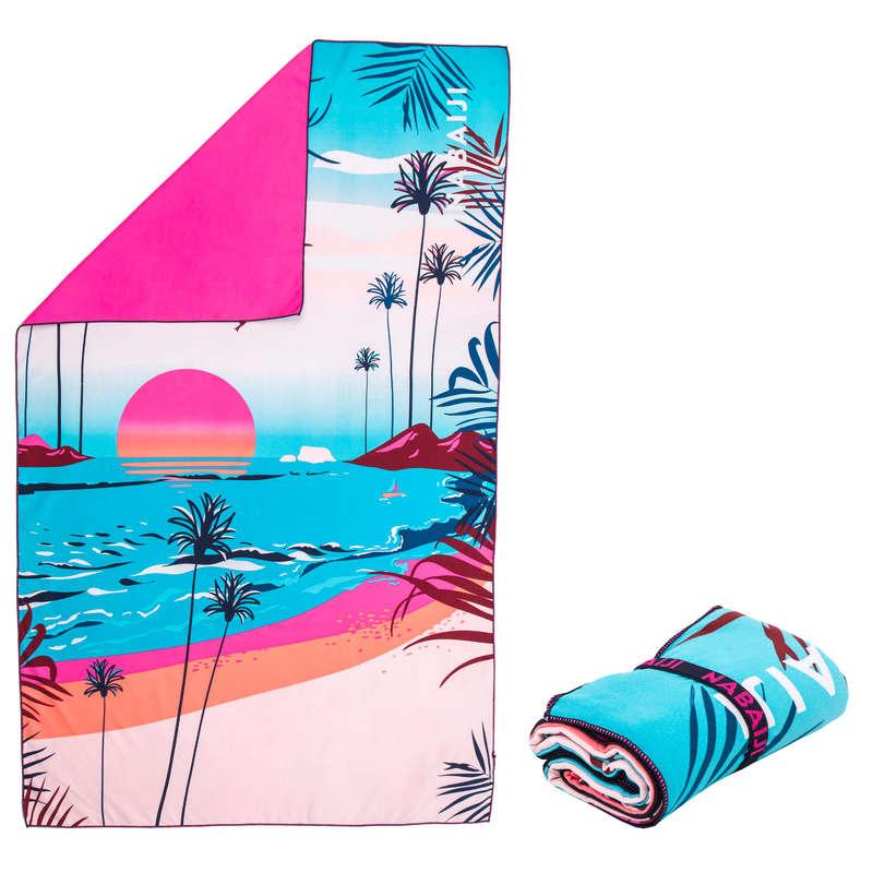 RĘCZNIKI BASENOWE Pływanie - Ręcznik mikrofibra XL 110x175 NABAIJI - Pływanie