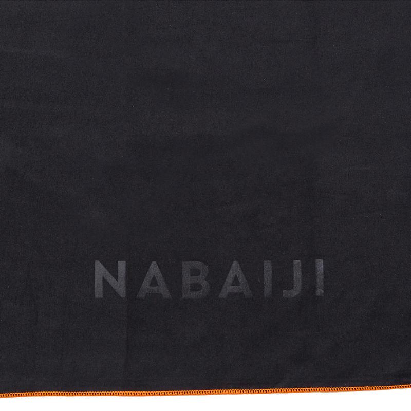 Compact microfibre towel size L 80 x 130 cm - Gray