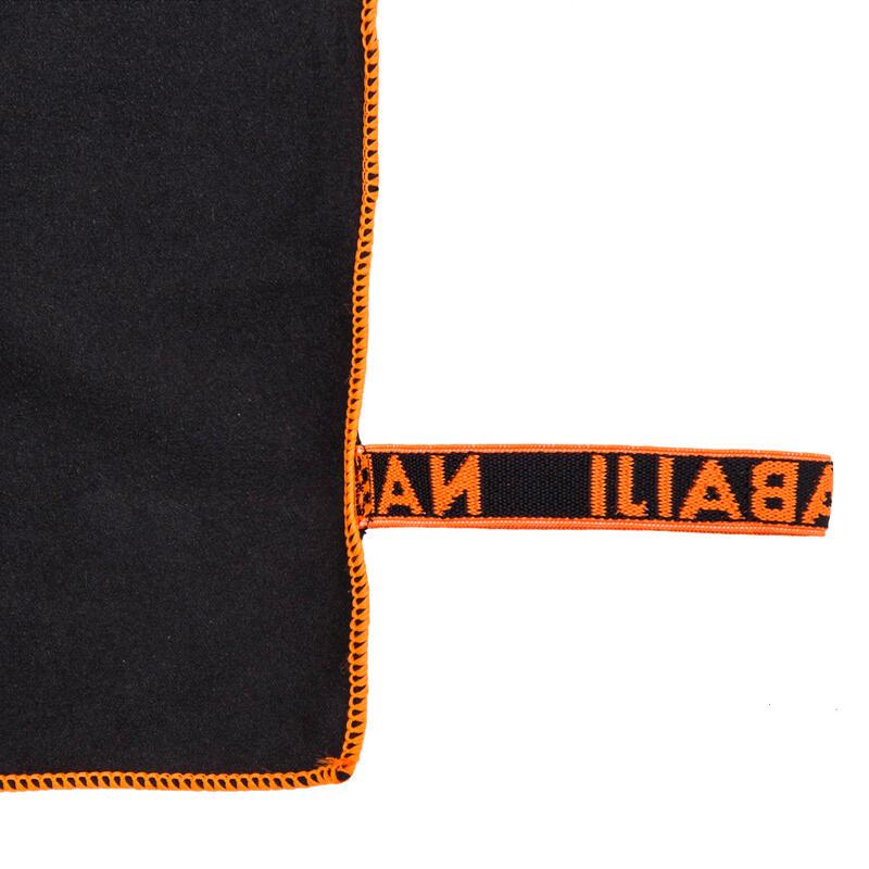 Dark grey microfibre towel S 42 x 55 cm