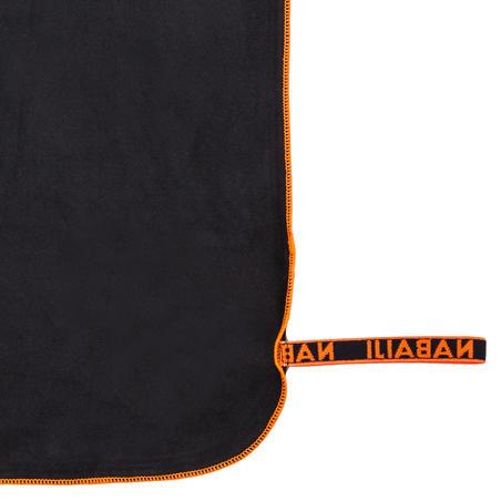 Compact microfibre towel size L 80 x 130 cm - Black