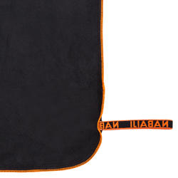 Toalha de natação de microfibras cinzento escuro tamanho L 80 x 130 cm