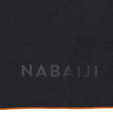 Swimming Microfibre Towel Size M 65 x 90 cm - Dark Grey