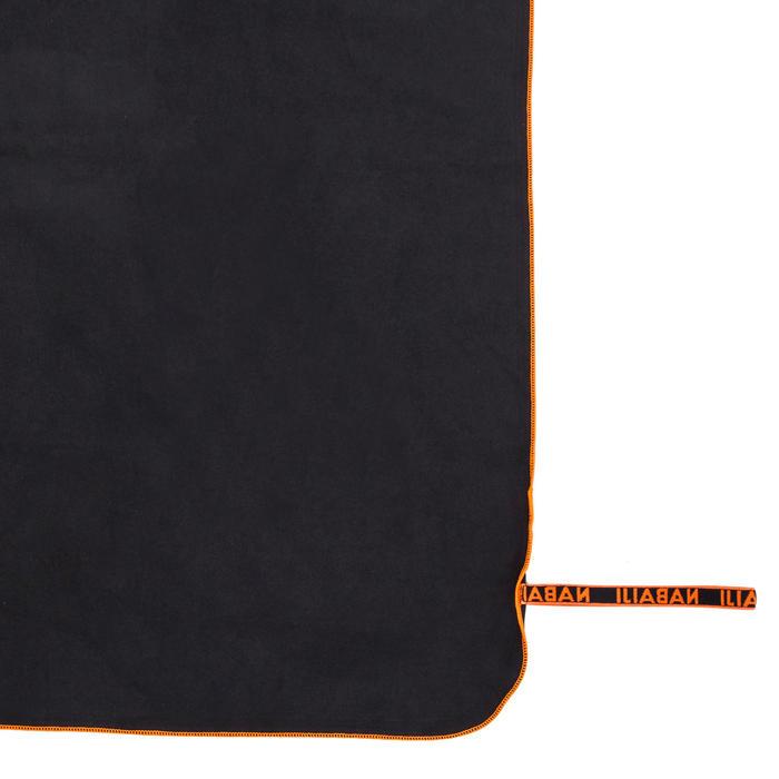 Serviette microfibre ultra compacte gris taille XL 110 x 175 cm