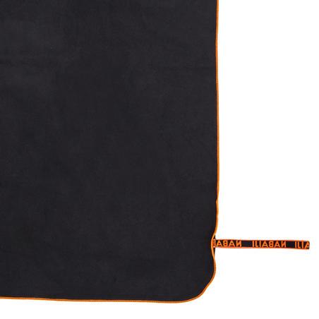 Toalla Gris Microfibra Ultracompacta Talla XL 110 x 175Cm