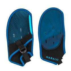 Luvas de natação soft 100 preto azul