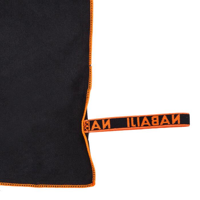 Supercompacte microvezel handdoek grijs maat M 65 x 90 cm
