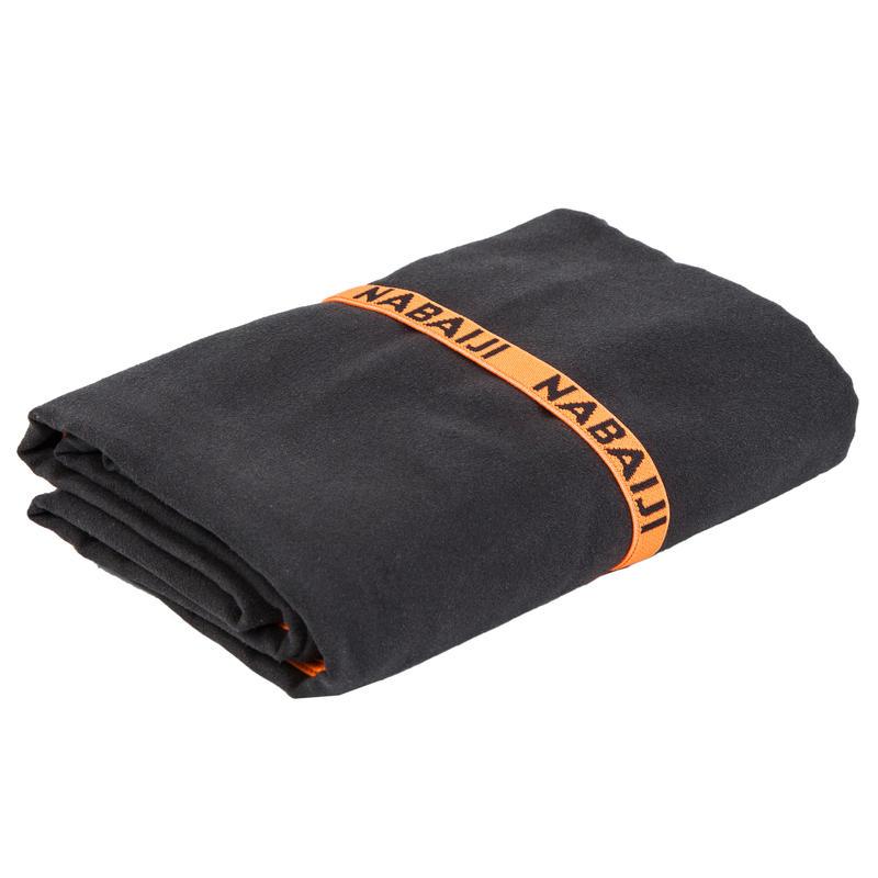 ผ้าขนหนูไมโครไฟเบอร์รุ่นกะทัดรัด ขนาด L 80 x 130 ซม. สีดำ