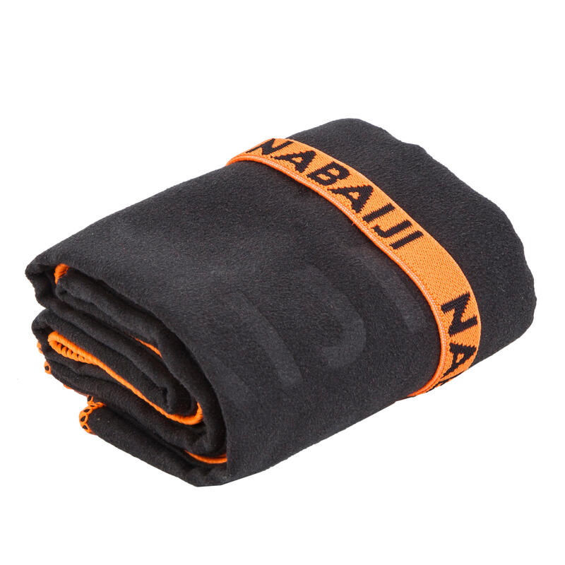 Compact Microfibre Towel Medium - Black