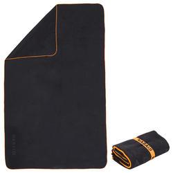 Supercompacte microvezel handdoek grijs maat XL 110 x 175 cm