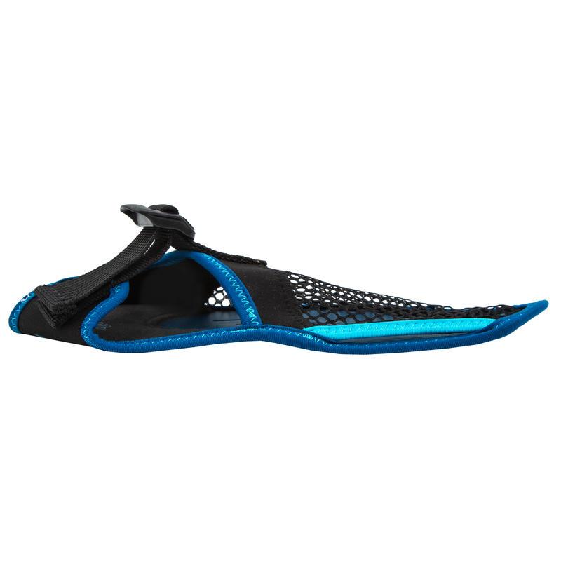 Gants de natation soft 100 noir bleu