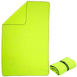 Serviette microfibre ultra compacte jaune taille XL 110 x 175 cm
