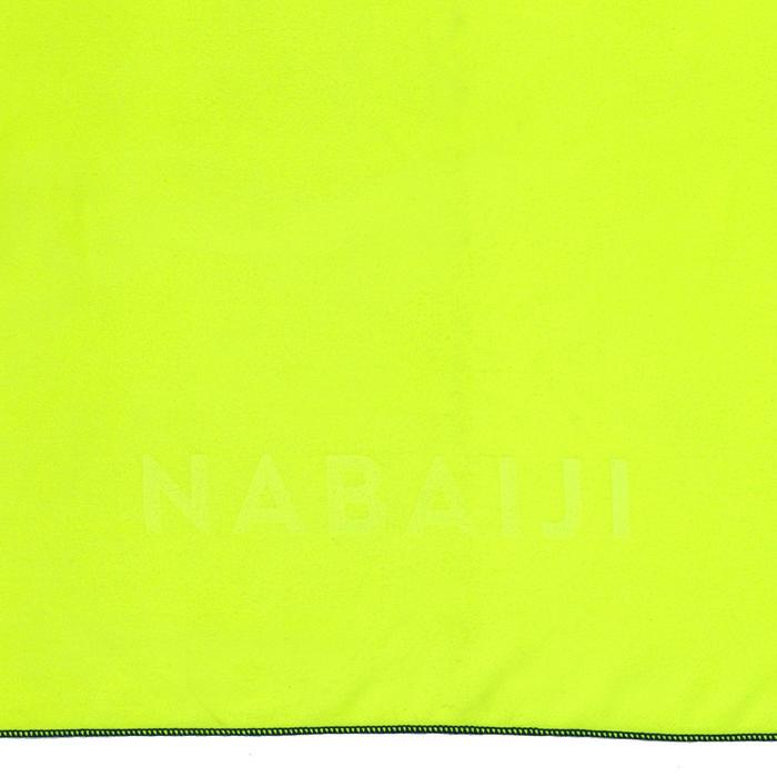 Supercompacte microvezel handdoek geel maat XL 110 x 175 cm