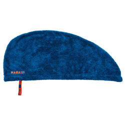 Haarhanddoek in zachte microvezel blauw