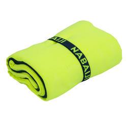 Toalha de natação microfibra amarelo fluorescente taman