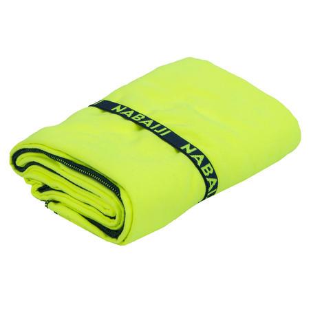 Handuk mikrofiber ringkas ukuran L 80 x 130 cm - Kuning