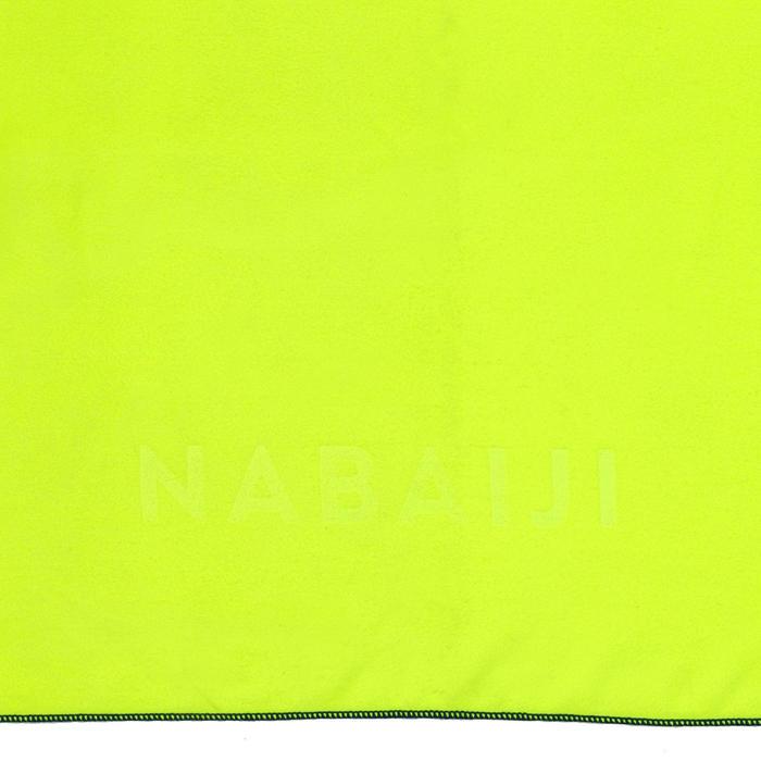 Compacte microvezel handdoek geel maat L 80 x 130 cm