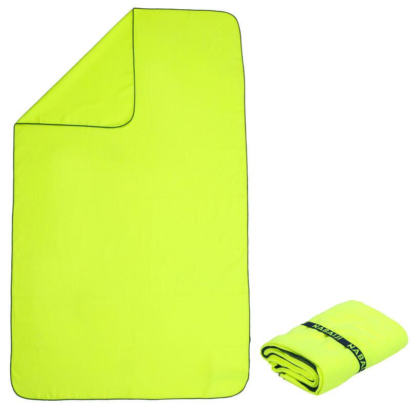 Toalla Microfibra Amarillo Fluorescente Talla L 80 x 130cm