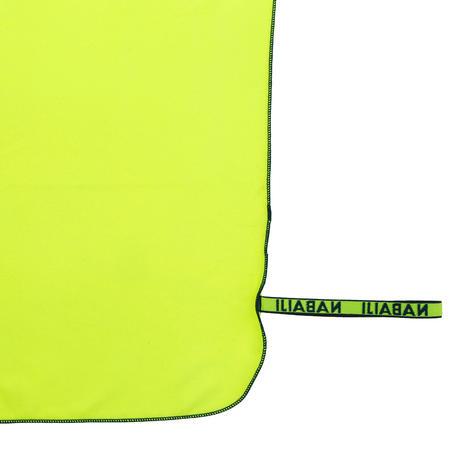 Microfibre Pool Towel Size XL 110 x 175 cm - Neon Yellow