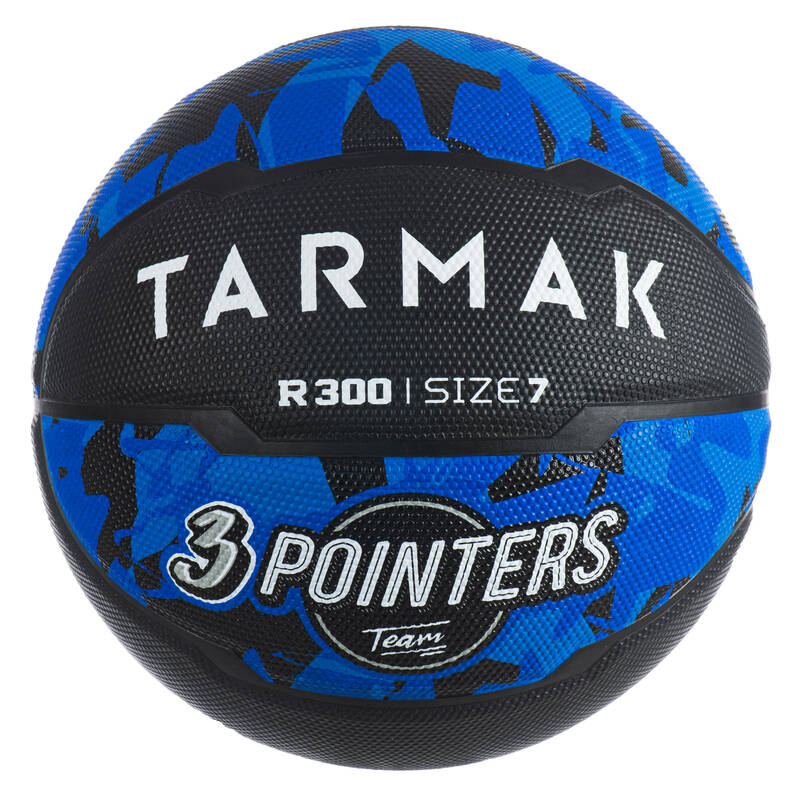 BASKETBALOVÉ MÍČE Basketbal - MÍČ R300 VEL. 7 ČERNO-MODRÝ TARMAK - Basketbalové míče