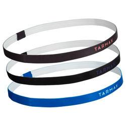 女款籃球頭帶套組-藍色/灰色/黑色