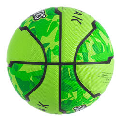 Kids' Size 5 Basketball, Beginner Players Up to Age 10 R300 - Green