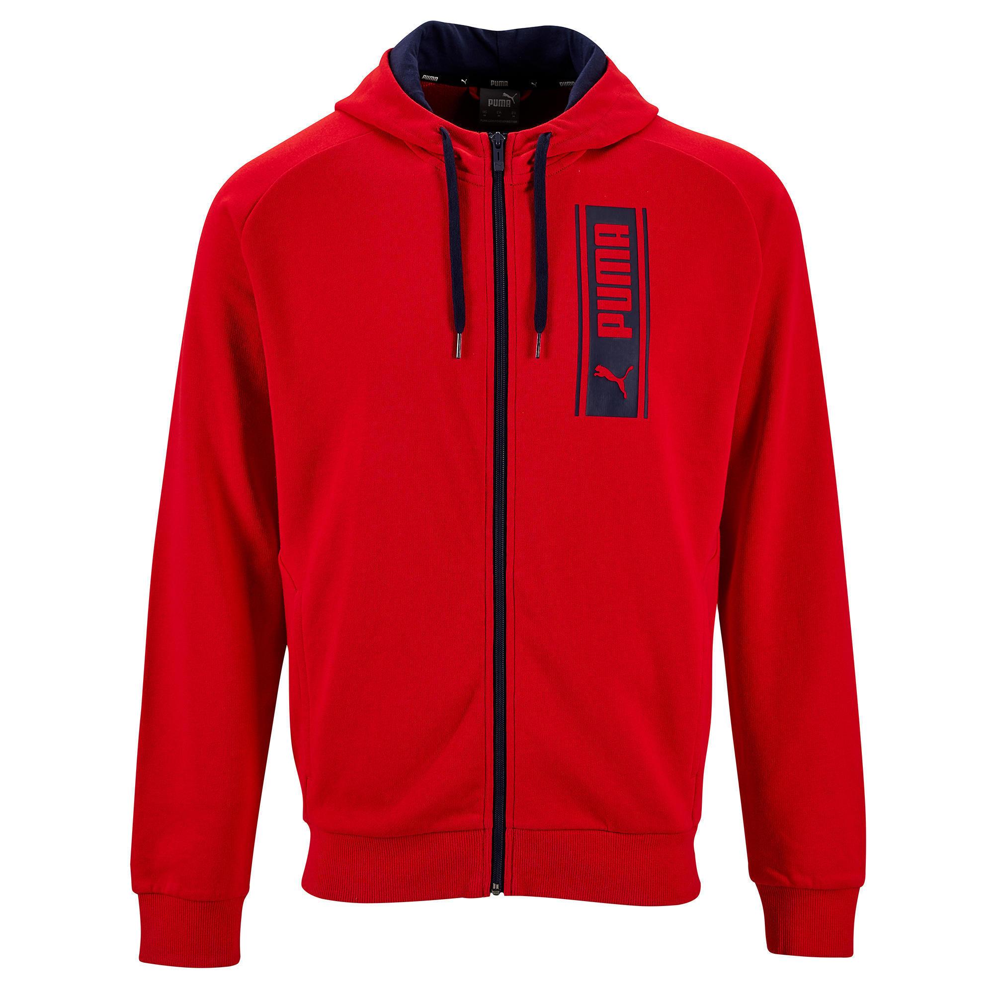 Vestes Veste à Capuche Puma Homme 500 Rouge