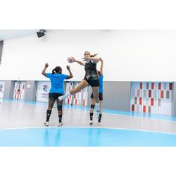 Short de handball H500 femme noir/gris