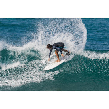 Uv-werende rashguard met lange mouwen voor surfen heren 500 zwart
