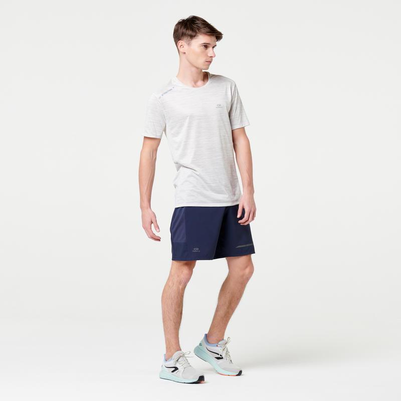 MEN'S RUNNING T-SHIRT RUN DRY+ - OFF-WHITE