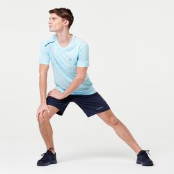 RUN DRY+ MEN'S RUNNING T-SHIRT BLUE PASTEL