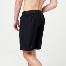 RUN DRY MEN'S RUNNING SHORTS - BLACK