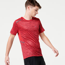 RUN DRY+ MEN'S RUNNING T-SHIRT - MOTTLED RED