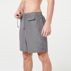 RUN DRY MEN'S RUNNING SHORTS - GREY