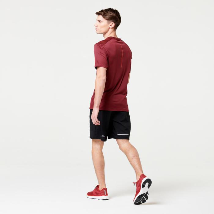 男款跑步T恤RUN DRY+酒紅色