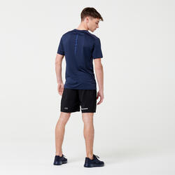 TEE SHIRT RUNNING RUN DRY + GRIS ABYSSES HOMME