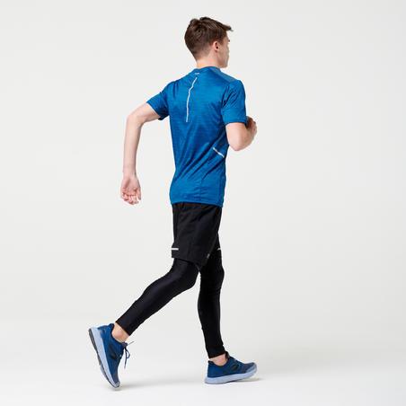 RUN DRY+ MEN'S RUNNING T-SHIRT PETROL BLUE