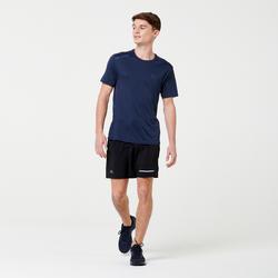 RUN DRY+ MEN'S RUNNING T-SHIRT - DARK BLUE