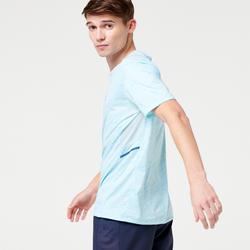 男款跑步T恤RUN DRY+粉彩藍