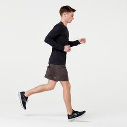 SHORT RUNNING RUN DRY + KHAKI FONCE HOMME